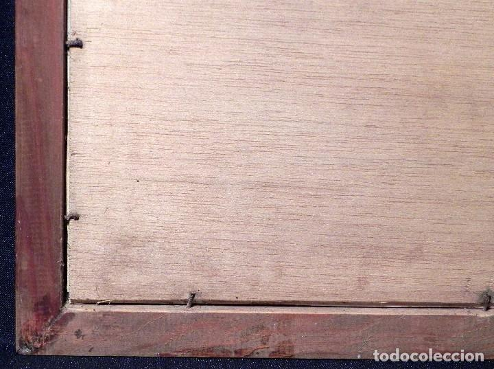 Arte: Cuadro Lamina Enmarcada Barco Antiguo LE BRETON Marco madera y cristal, ilustración vintage 1970s - Foto 10 - 183698610