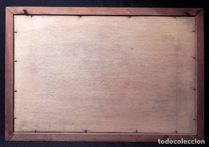 Arte: Cuadro Lamina Enmarcada Barco Antiguo LE BRETON Marco madera y cristal, ilustración vintage 1970s - Foto 11 - 183698610