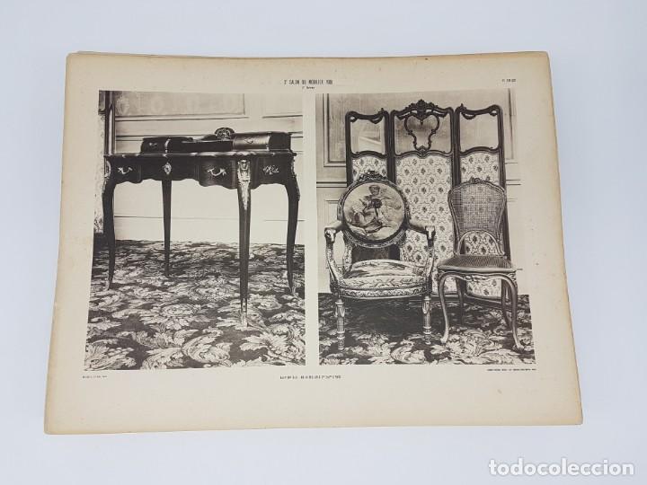 LOTE 166 LAMINAS DE EXPOSICIÓN DE ANTIGUEDADES Y MOBILIÁRIO - PARIS 1908 (Arte - Láminas Antiguas)