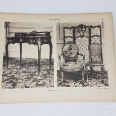 Arte: LOTE 166 LAMINAS DE EXPOSICIÓN DE ANTIGUEDADES Y MOBILIÁRIO - PARIS 1908 . Lote 184102926