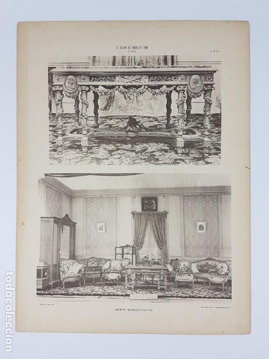Arte: LOTE 166 LAMINAS DE EXPOSICIÓN DE ANTIGUEDADES Y MOBILIÁRIO - PARIS 1908 - Foto 7 - 184102926