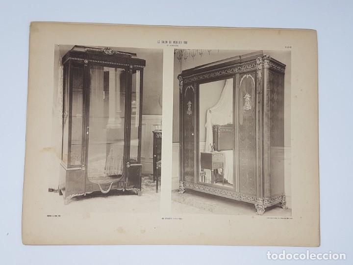 Arte: LOTE 166 LAMINAS DE EXPOSICIÓN DE ANTIGUEDADES Y MOBILIÁRIO - PARIS 1908 - Foto 8 - 184102926