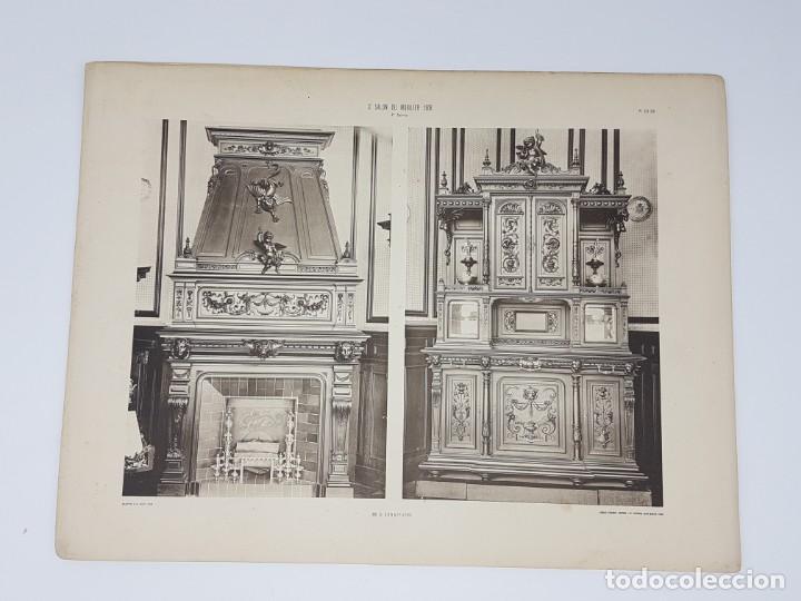Arte: LOTE 166 LAMINAS DE EXPOSICIÓN DE ANTIGUEDADES Y MOBILIÁRIO - PARIS 1908 - Foto 9 - 184102926