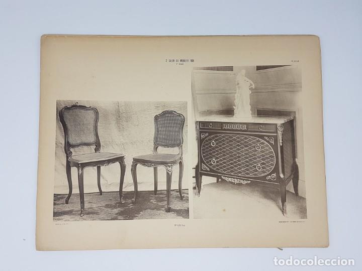 Arte: LOTE 166 LAMINAS DE EXPOSICIÓN DE ANTIGUEDADES Y MOBILIÁRIO - PARIS 1908 - Foto 10 - 184102926