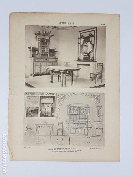 Arte: LOTE 166 LAMINAS DE EXPOSICIÓN DE ANTIGUEDADES Y MOBILIÁRIO - PARIS 1908 - Foto 12 - 184102926