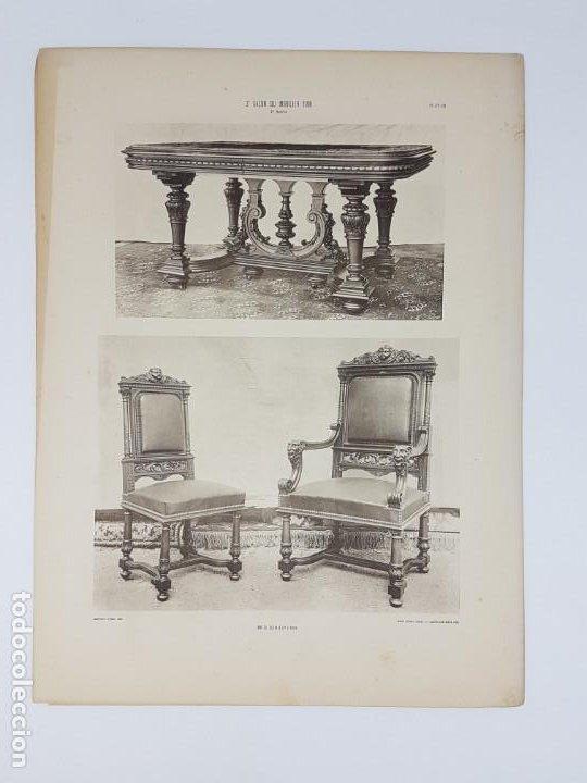 Arte: LOTE 166 LAMINAS DE EXPOSICIÓN DE ANTIGUEDADES Y MOBILIÁRIO - PARIS 1908 - Foto 13 - 184102926