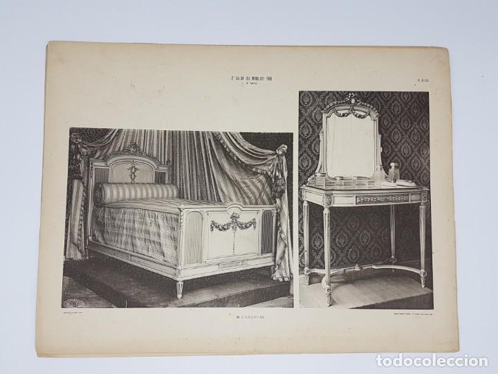 Arte: LOTE 166 LAMINAS DE EXPOSICIÓN DE ANTIGUEDADES Y MOBILIÁRIO - PARIS 1908 - Foto 14 - 184102926