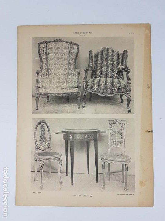 Arte: LOTE 166 LAMINAS DE EXPOSICIÓN DE ANTIGUEDADES Y MOBILIÁRIO - PARIS 1908 - Foto 15 - 184102926