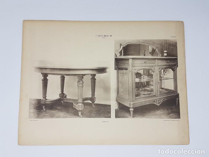 Arte: LOTE 166 LAMINAS DE EXPOSICIÓN DE ANTIGUEDADES Y MOBILIÁRIO - PARIS 1908 - Foto 17 - 184102926