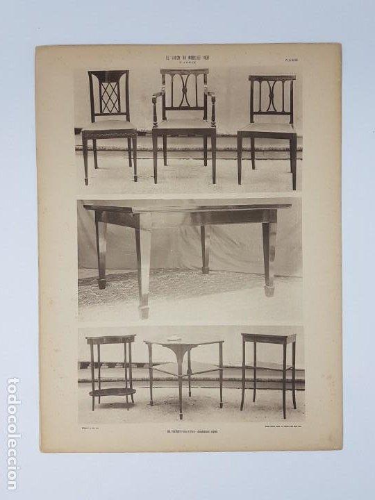 Arte: LOTE 166 LAMINAS DE EXPOSICIÓN DE ANTIGUEDADES Y MOBILIÁRIO - PARIS 1908 - Foto 18 - 184102926