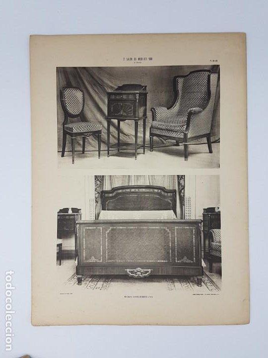 Arte: LOTE 166 LAMINAS DE EXPOSICIÓN DE ANTIGUEDADES Y MOBILIÁRIO - PARIS 1908 - Foto 21 - 184102926