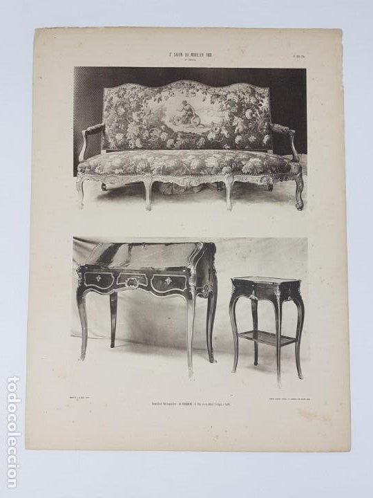 Arte: LOTE 166 LAMINAS DE EXPOSICIÓN DE ANTIGUEDADES Y MOBILIÁRIO - PARIS 1908 - Foto 23 - 184102926