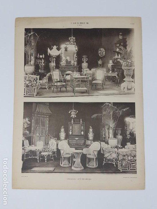 Arte: LOTE 166 LAMINAS DE EXPOSICIÓN DE ANTIGUEDADES Y MOBILIÁRIO - PARIS 1908 - Foto 24 - 184102926