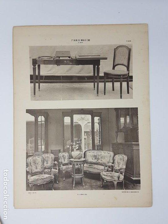 Arte: LOTE 166 LAMINAS DE EXPOSICIÓN DE ANTIGUEDADES Y MOBILIÁRIO - PARIS 1908 - Foto 29 - 184102926