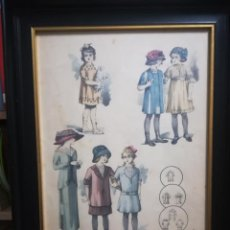 Arte: ANTIGUA LAMINA ENMARCADA LA MODA ELEGANTE ILUSTRADA AÑO 1911. Lote 184460383