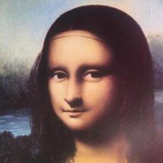 Arte: MONA LISA LAMINA PEGADA EN MADERA, ENMARCADO. Lote 185905102