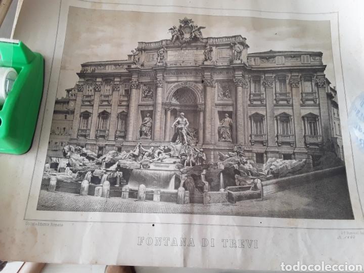LAMINA ANTIGUA ROMA FINALES SIGLO XIX (Arte - Láminas Antiguas)
