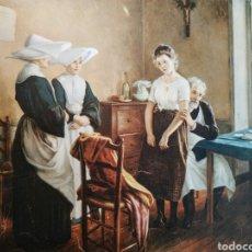 Arte: PAREJA DE ESTAMPAS MÉDICAS CIRCA 1900 ANTIQUE UNIQUE. Lote 188746971