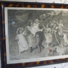 Arte: PRECIOSA MINA CUMPLEAÑOS NIÑOS PERRO FIRMA BABY'S BIRTHDAY DE ARTHUR J. ELSLEY IDEAL REGALO. Lote 188794802