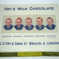 Arte: REPRO - BELLO CARTEL CHOCOLATE FRY'S. Lote 189591808