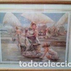 Arte: BONITO CUADRO LAMINA ENMARCADA. Lote 190913967