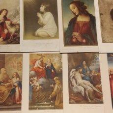 Arte: LOTE DE 12 LAMINAS RELIGIOSAS ANTIGUAS. Lote 191313086