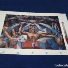 Arte: LAMINA ,FRAGMENTO DE MURAL DE NACIONES UNIDAS 1952 NEW YORK, DE 41 X 28 CMS.VELA ZANETTI. Lote 191795526