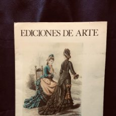 Art: EDICIONES DE ARTE MODA S XIX 5 GRABADOS GALERIAS APOLO BRUXELAS 45,5X33,5CMS. Lote 191961897