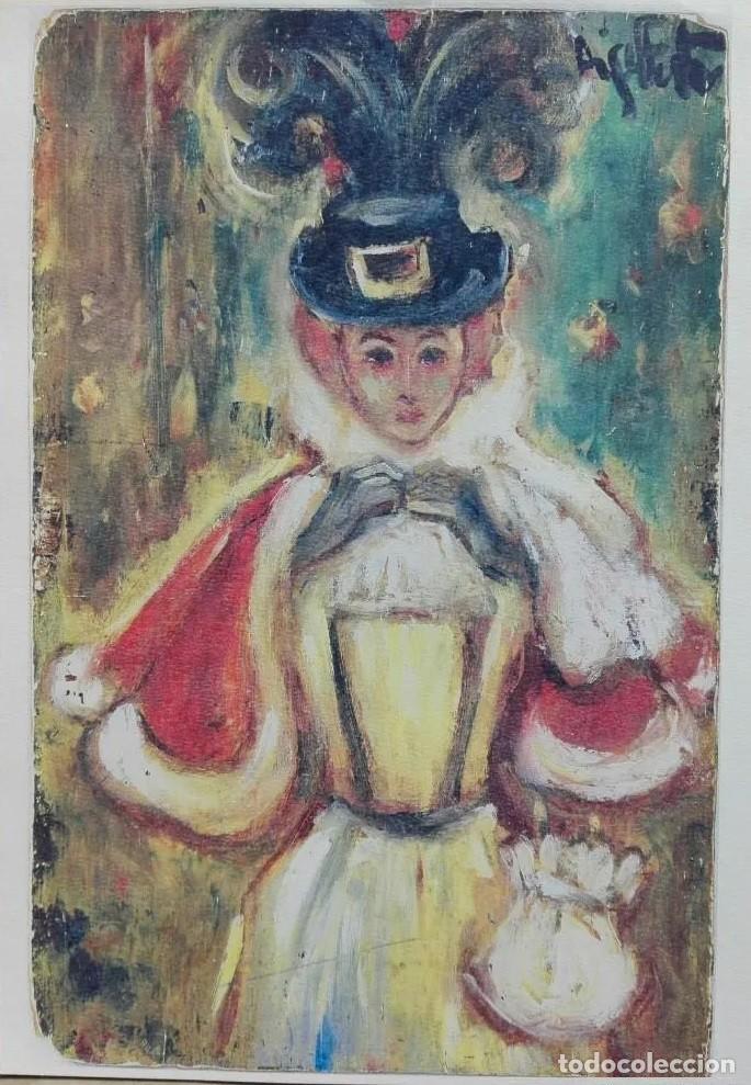 LÁMINA EN PAPEL ACUARELA DEL ARTISTA MIQUEL FUSTER (Arte - Láminas Antiguas)