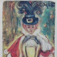 Arte: LÁMINA EN PAPEL ACUARELA DEL ARTISTA MIQUEL FUSTER. Lote 192553717