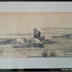Arte: LAMINA REPRODUCCIÓN DE UN DIBUJO DE JOAQUIM VAYREDA, 1838-1840. Lote 192572998