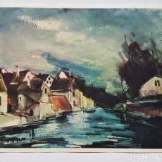 Arte: MAURICE DE VLAMINCK - CHARTRES, 1935-, LAMINA IMPRESA EN PARÍS.. Lote 192982892
