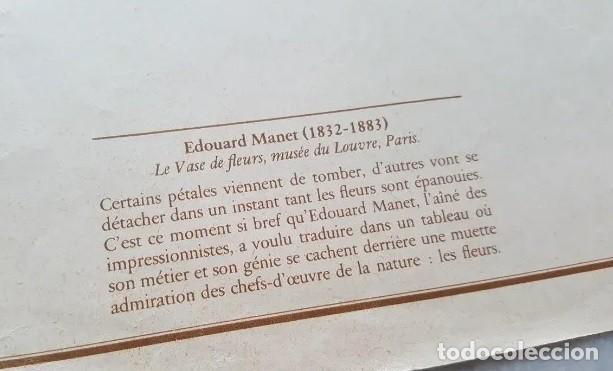 Arte: ANTIGUA (1964) LAMINA DE EDOUARD MANET , -LE VASE DES FLEURS, 1871, MUSEO DEL LOUVRE- - Foto 2 - 192984178