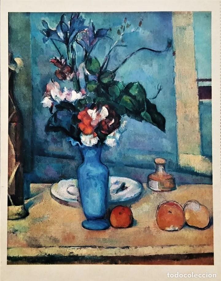 LAMINA DE PAUL CEZANNE , -LE VASE BLUE, MUSEO DEL LOUVRE- (Arte - Láminas Antiguas)