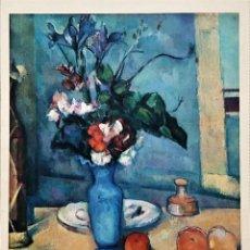 Arte: LAMINA DE PAUL CEZANNE , -LE VASE BLUE, MUSEO DEL LOUVRE-. Lote 192984660