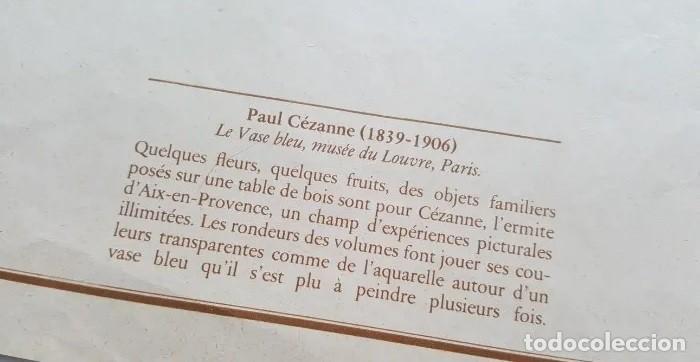 Arte: LAMINA DE PAUL CEZANNE , -LE VASE BLUE, MUSEO DEL LOUVRE- - Foto 2 - 192984660