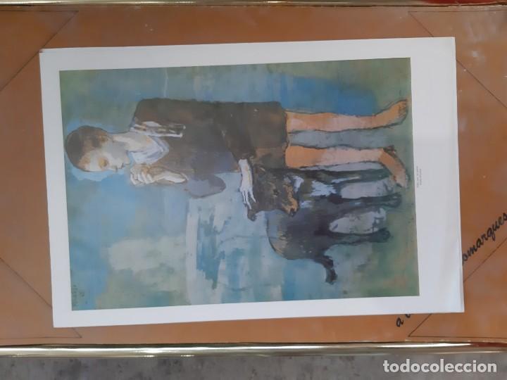 LAMINA DEL CUADRO NIÑO CON PERRO PABLO PICASSO (Arte - Láminas Antiguas)