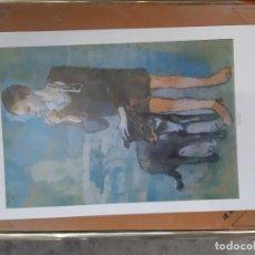 Arte: LAMINA DEL CUADRO NIÑO CON PERRO PABLO PICASSO . Lote 193369628