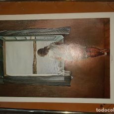 Arte: LAMINA CUADRO MUCHACHA EN LA VENTANA SALVADOR DALI . Lote 193369736