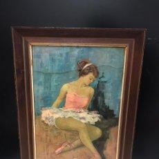 Arte: CUADRO LAMINA BAILARINA. Lote 193972700