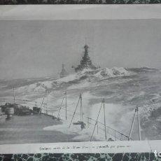 Arte: BARCO EN ALTAMAR SEGUNDA GUERRA MUNDIAL. Lote 194008931