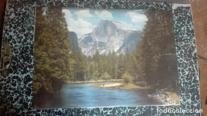 Arte: Lámina de catedral y por detrás río con bosque - Foto 2 - 194009360