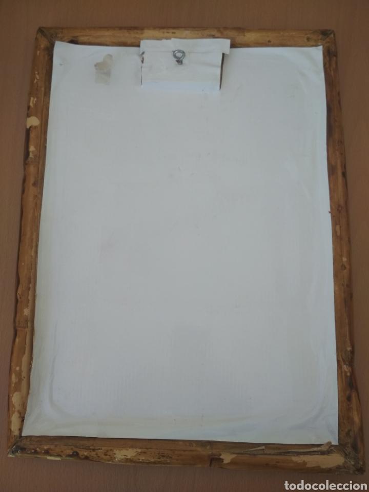 Arte: Lamina de las lágrimas de San Pedro enmarcada en bambú y cristal. - Foto 3 - 194064191