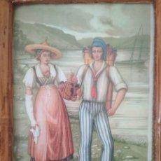 Arte: ANTIGUA LAMINA ENMARCADA VAUD SUIZA.. Lote 194069233