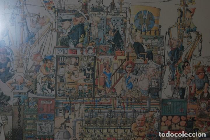 Arte: REPRODUCCIÓN OBRA ROGIER MEKEL - LA VIDA A BORDO DE UN BARCO - POSTER - THE TREASURE CHEST - HOLANDA - Foto 2 - 194226261