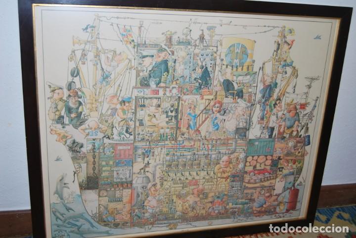 Arte: REPRODUCCIÓN OBRA ROGIER MEKEL - LA VIDA A BORDO DE UN BARCO - POSTER - THE TREASURE CHEST - HOLANDA - Foto 3 - 194226261