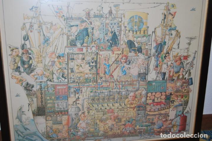 Arte: REPRODUCCIÓN OBRA ROGIER MEKEL - LA VIDA A BORDO DE UN BARCO - POSTER - THE TREASURE CHEST - HOLANDA - Foto 4 - 194226261