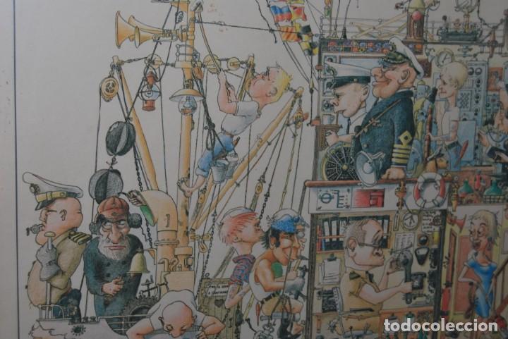 Arte: REPRODUCCIÓN OBRA ROGIER MEKEL - LA VIDA A BORDO DE UN BARCO - POSTER - THE TREASURE CHEST - HOLANDA - Foto 5 - 194226261