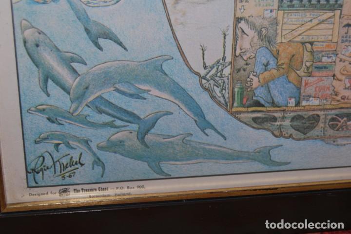 Arte: REPRODUCCIÓN OBRA ROGIER MEKEL - LA VIDA A BORDO DE UN BARCO - POSTER - THE TREASURE CHEST - HOLANDA - Foto 9 - 194226261