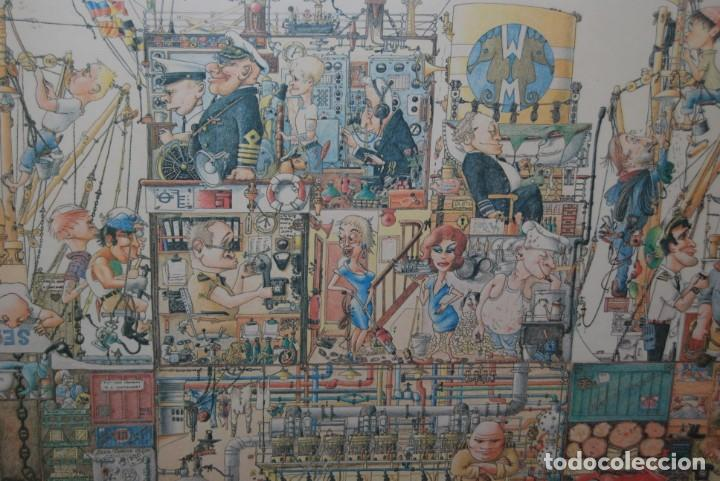 Arte: REPRODUCCIÓN OBRA ROGIER MEKEL - LA VIDA A BORDO DE UN BARCO - POSTER - THE TREASURE CHEST - HOLANDA - Foto 12 - 194226261